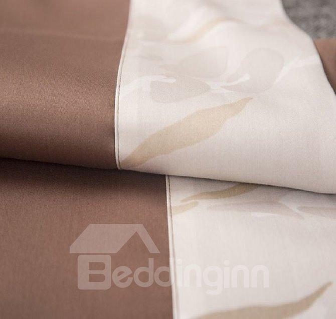 Minimalist Adorable Leaves Print 4-Piece Cotton Duvet Cover Sets