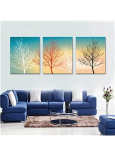 Amazing Color Gradient Tree Pattern 3 Pieces Wall Art Prints