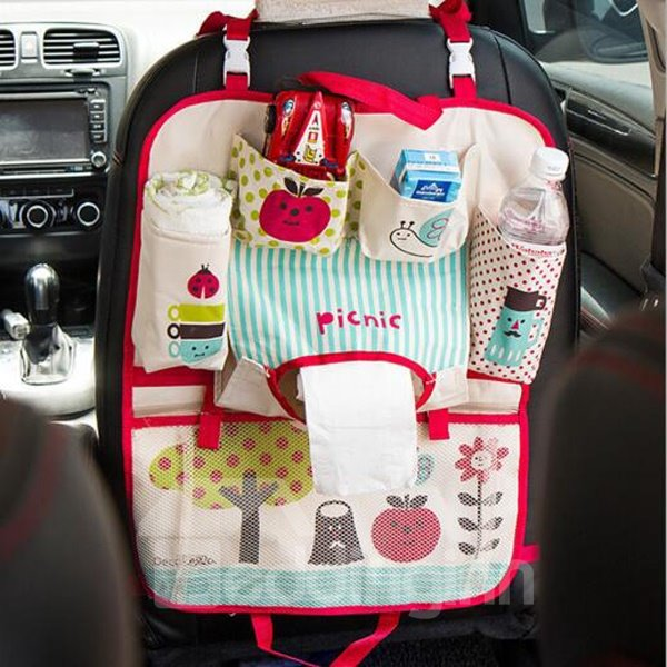 Easy Install And Multifunction Oxford Cloth Charming Backseat Organizer