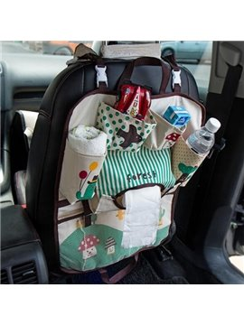 Beautiful Oxford Cloth Material Popular Hanging Style Backseat Organizer