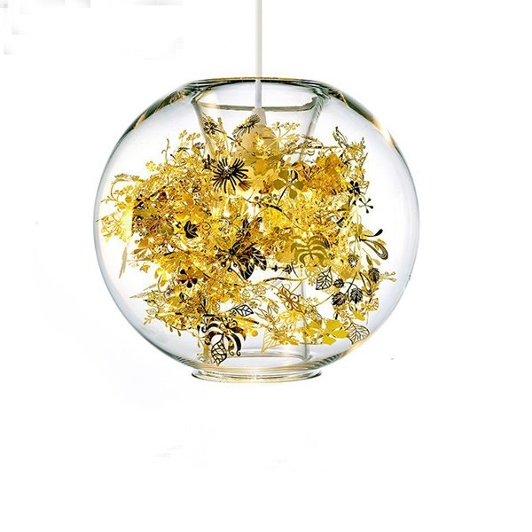 Creative Northern Europe Style Spherical Glass Ceiling Light