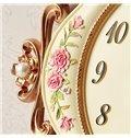 Fashion Creative Resin Flower Pattern Pendulum Wall Clock