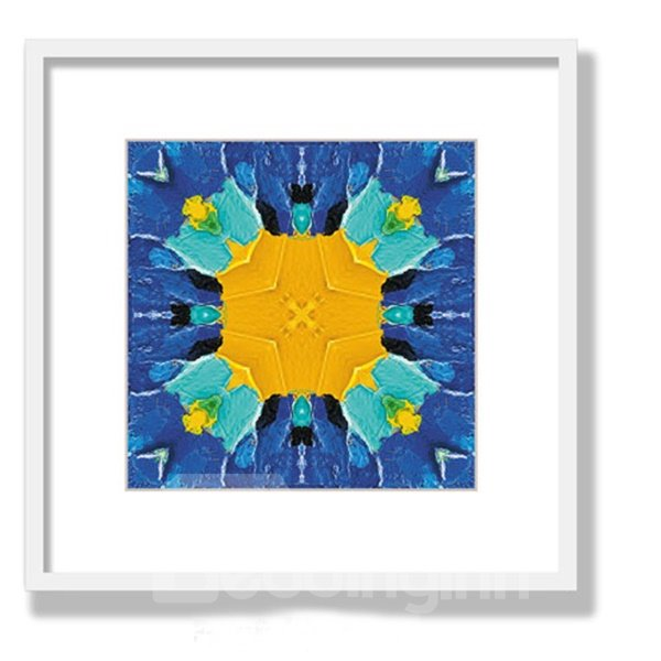 Abstract Creative Blue Oil Painting Wall Art Print