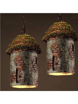 Amusing Resin Log Cabin Shape Decorative Ceiling Light