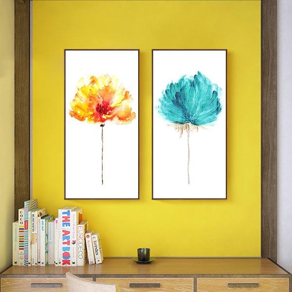 Modern Simple Decorative Flower Pattern Wall Art Print