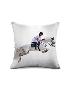 Marvelous Horse Racing 3D Print Throw Pillow Case