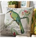 Pastoral Style Beautiful Birds Polyester Multifunctional Throw Pillow