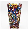 Gorgeous Colorful Hand Painting Flower Pattern Desktop Decoration Flower Vase