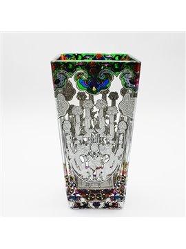 Wonderful Hand Painting Glass Dragon Pattern Desktop Decoration Flower Vase