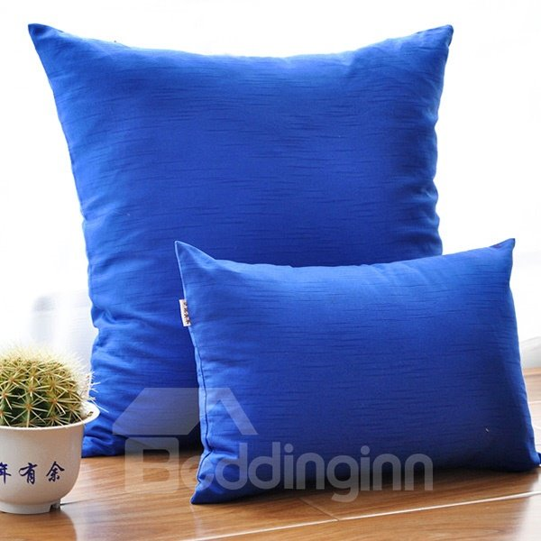Solid Navy Blue Pure Cotton Square Pillow