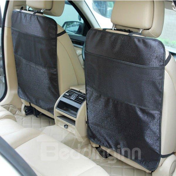 Simple And Large Waterproof Material 1-Pair Car Backseat Organizer