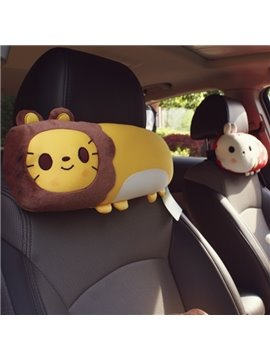 Cute Lion Cartoon Style Most Comfortable Car Headrest Pillow