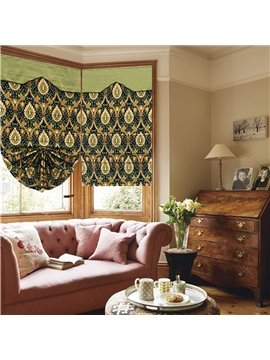 European Abstract Paisley Print Custom Roman Shades