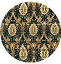 European Abstract Paisley Print Custom Roman Shades