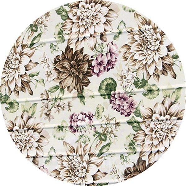 Country Watercolor Flowers Print Custom Roman Shades