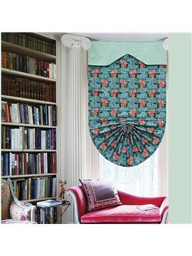 Cute Princess and Prince in horse Print Custom Roman Shades