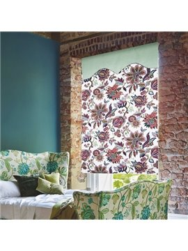 Stunning Colored Flowers Print Roman Shades