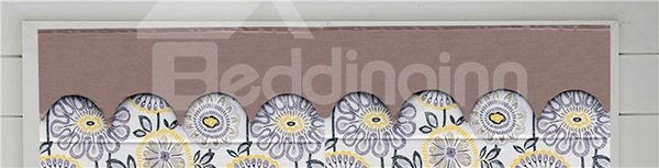 Hand Painted Colored?Sun Flowers Print Roman Shades