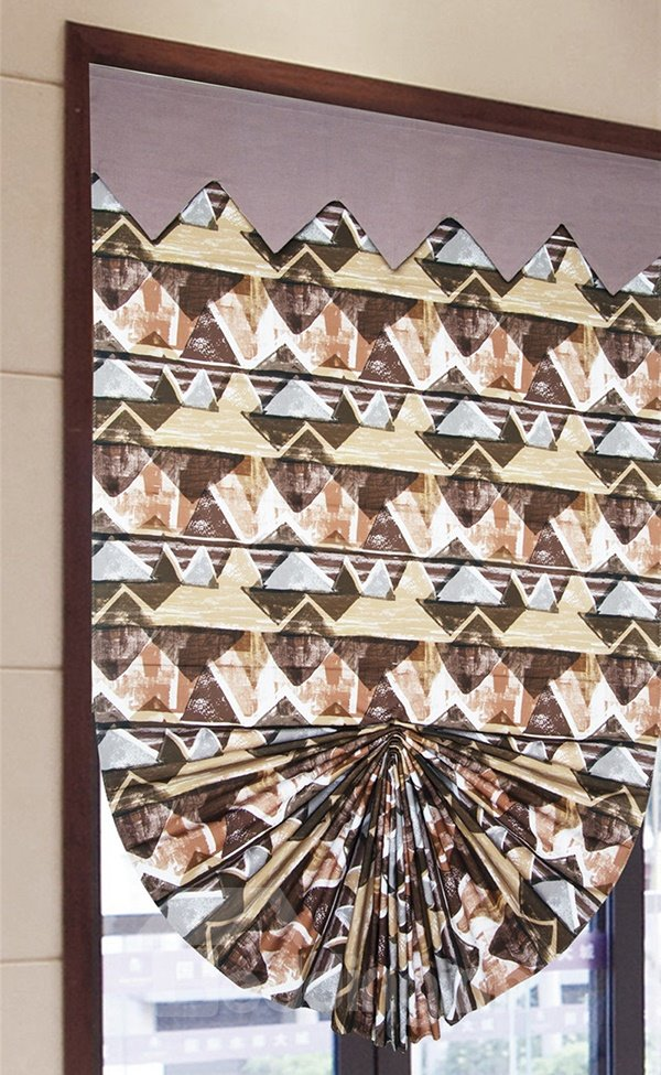 Modern Decor Oil Painting Geometric Print Roman Shades