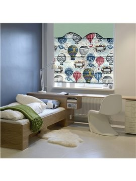 Colored Clip Art Balloon Print Roman Shades