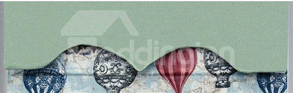 Colored Clip Art Balloon Print Roman Shades