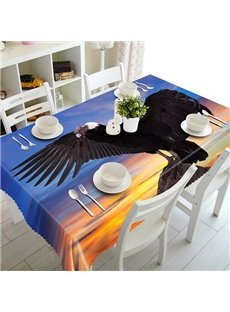 Magnificent Black Eagle Pattern 3D Tablecloth