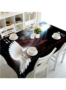 Creative Sunlight and White Pigeon Pattern 3D Tablecloth