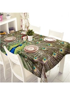 Gorgeous Polyester Peacock Pattern 3D Tablecloth