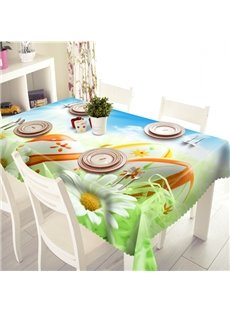 Fresh Flower and Ball Pattern 3D Tablecloth