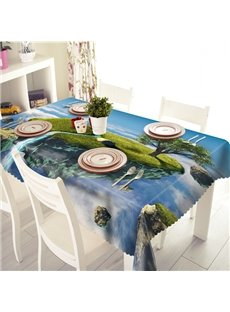 Creative Cliff and Waterfall Pattern 3D Tablecloth