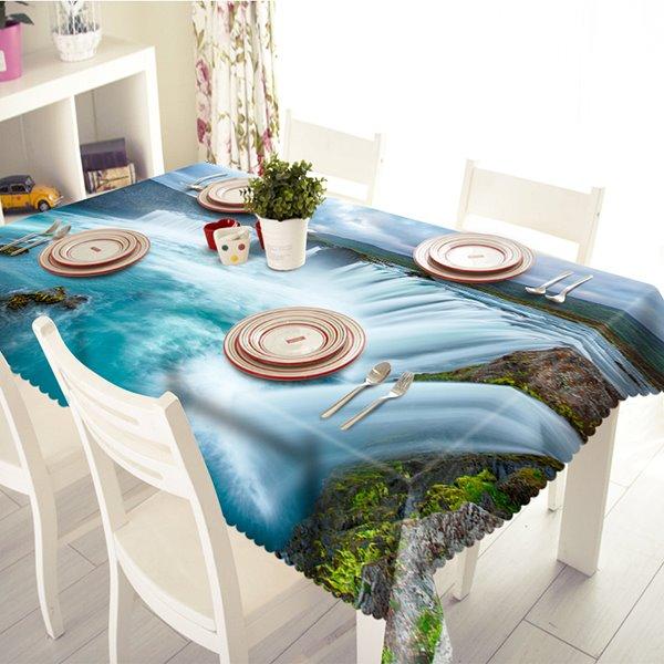 Beautiful Waterfall Scenery Pattern 3D Tablecloth