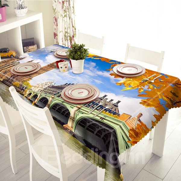 Gorgeous Big Ben Scenery Pattern 3D Tablecloth