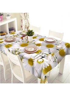 Beautiful Polyester Daisy Pattern 3D Tablecloth