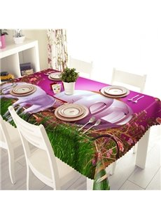 Amusing Horse Carriage Pattern 3D Tablecloth
