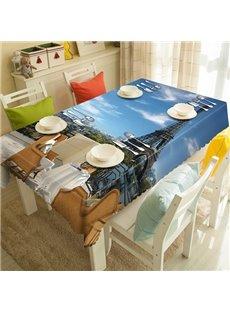 Modern Design Eiffel Tower Pattern 3D Tablecloth
