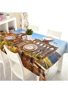 Scenic Spots and Historical Sites Pattern 3D Tablecloth