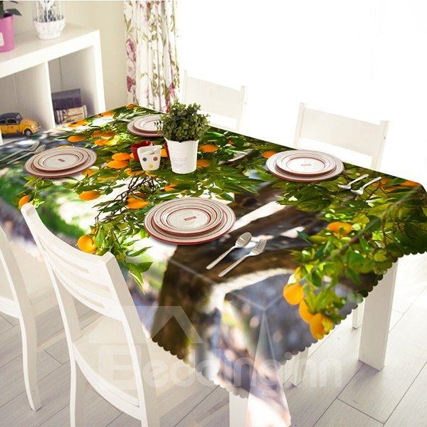 Hearty Fruitier Pattern Polyester 3D Tablecloth
