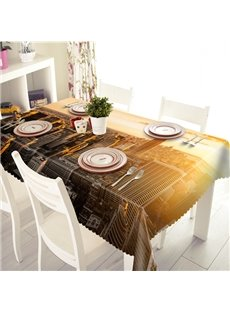 Modern Fashion Sunlight City Scenery Pattern 3D Tablecloth