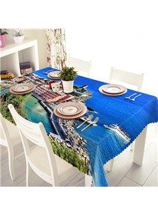 Mediterranean Style Blue Ocean Pattern 3D Tablecloth