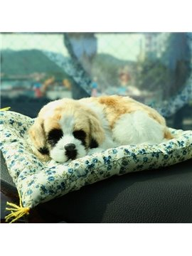 Cute Dog Pet Simulation And High-Grade Plush Material Car Creative Decor