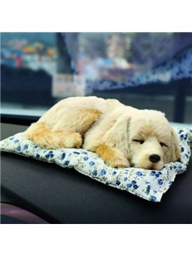 Golden Hair Pet Dog Style Most Popular Car Creative Decor