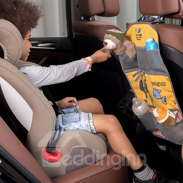 Super High Quality Cartoon Pattern Waterproof For Children Single Backseat Organizer
