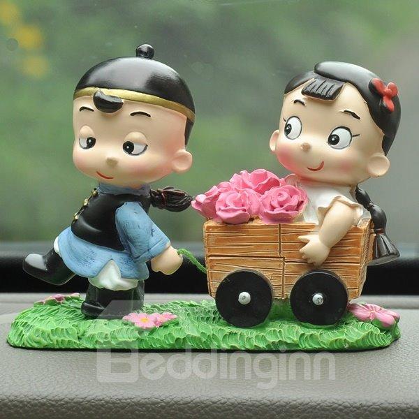 Romantic Love Implication And Good Lucky Car Creative Decor