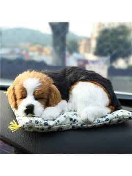 Cute Real Dog Pet Style Car Creative Decor