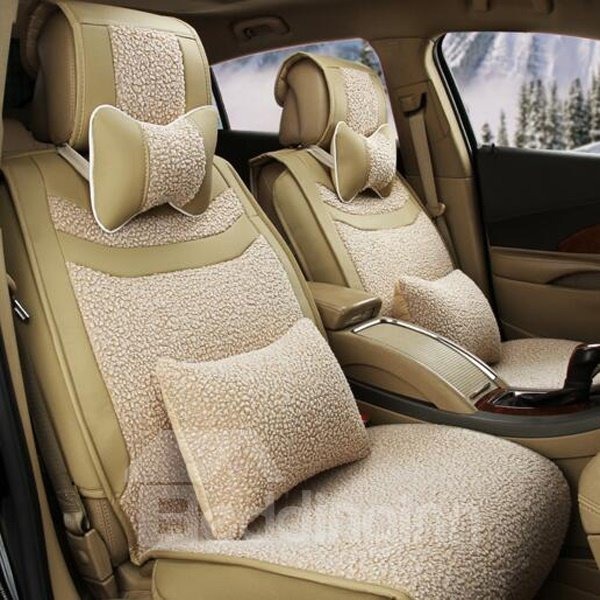 High Grade Plush Material Colorful Textured Universal Car Seat Cover