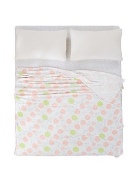 Gorgeous Red and Green Polka Dot Print Quilt