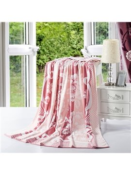 Glamorous Peony Jacquard Cameo Brown Cotton Quilt