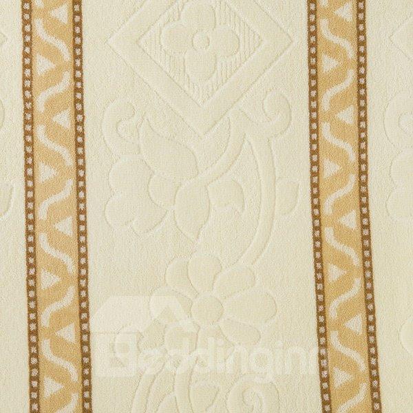Soft Camel and Beige Jacquard Cotton Quilt