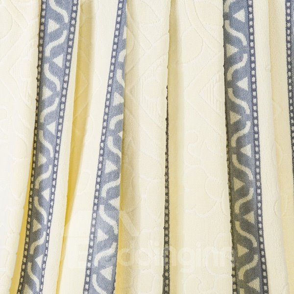 Noble Livid and Beige Jacquard Cotton Quilt