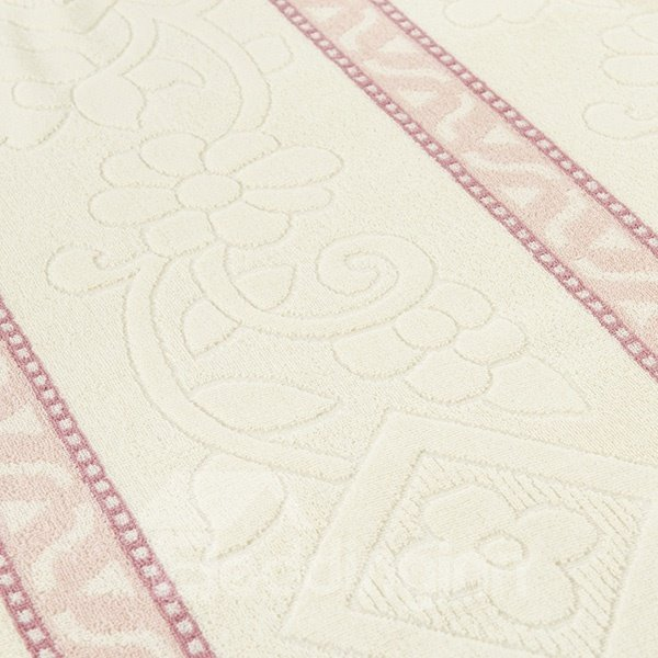 Fabulous Beige and Cameo Brown Jacquard Cotton Quilt